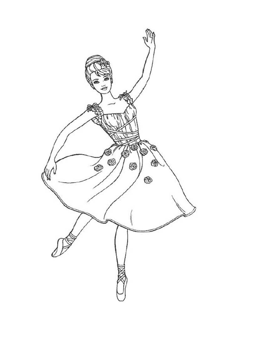 Ballerina Coloring Pages For Kids Free Printable Ballet Coloring Pages For Kids