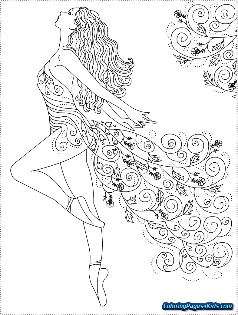 Ballerina Coloring Pages For Kids Hello Kitty Coloring Pages Ballerina With Hello Kitty Ballerina