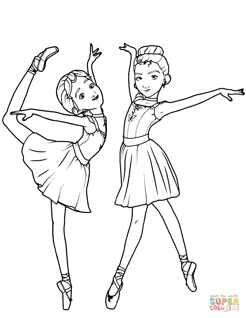 Ballerina Coloring Pages For Kids Leap Ballerina Coloring Pages Free Coloring Pages
