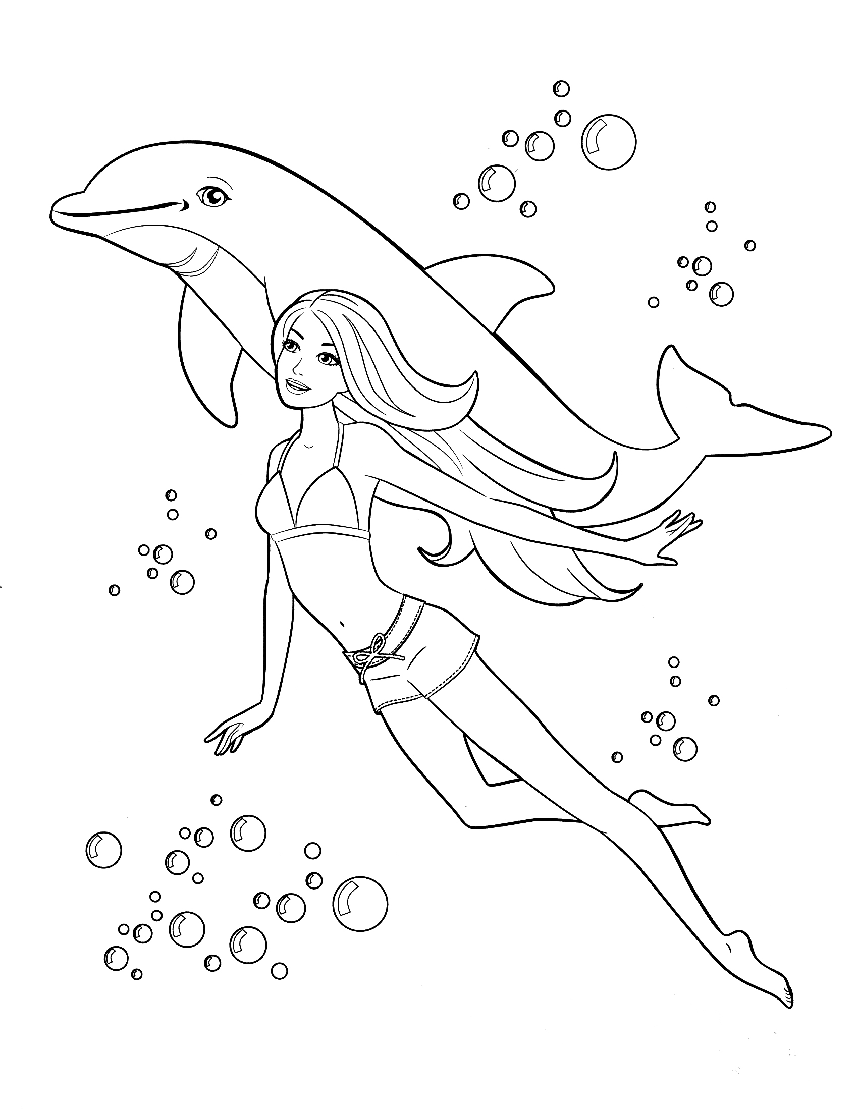 Barbie Halloween Coloring Pages Barbie Coloring Page 11 Print Color Craft