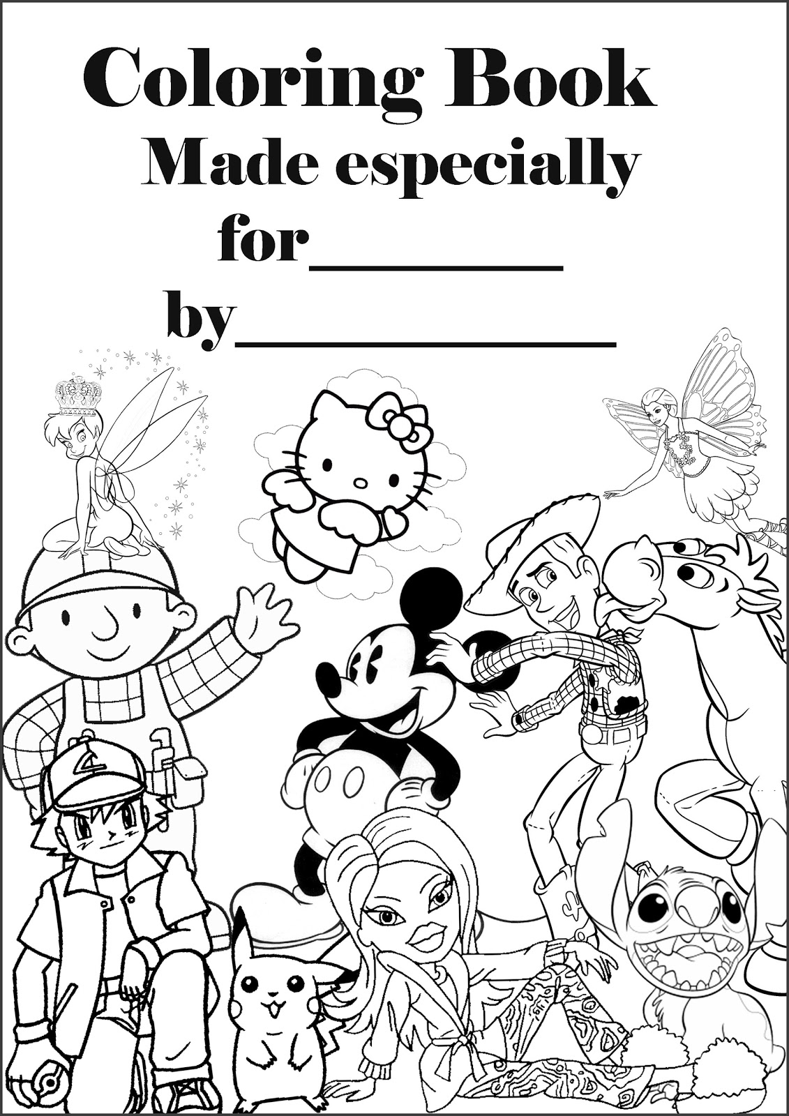 Barbie Halloween Coloring Pages Barbie Coloring Pages Personalised Coloring Book Cover