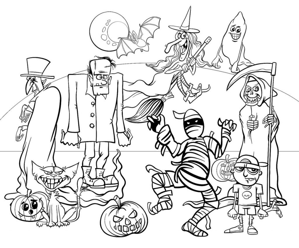 Barbie Halloween Coloring Pages Coloring Pages And Books 56 Astonishing Halloween Coloring Pages