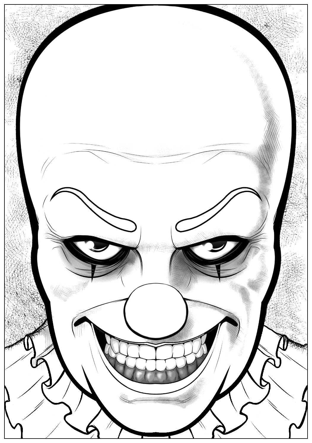 Barbie Halloween Coloring Pages Coloring Pages Outstanding Pennywise Coloring Pages To Print