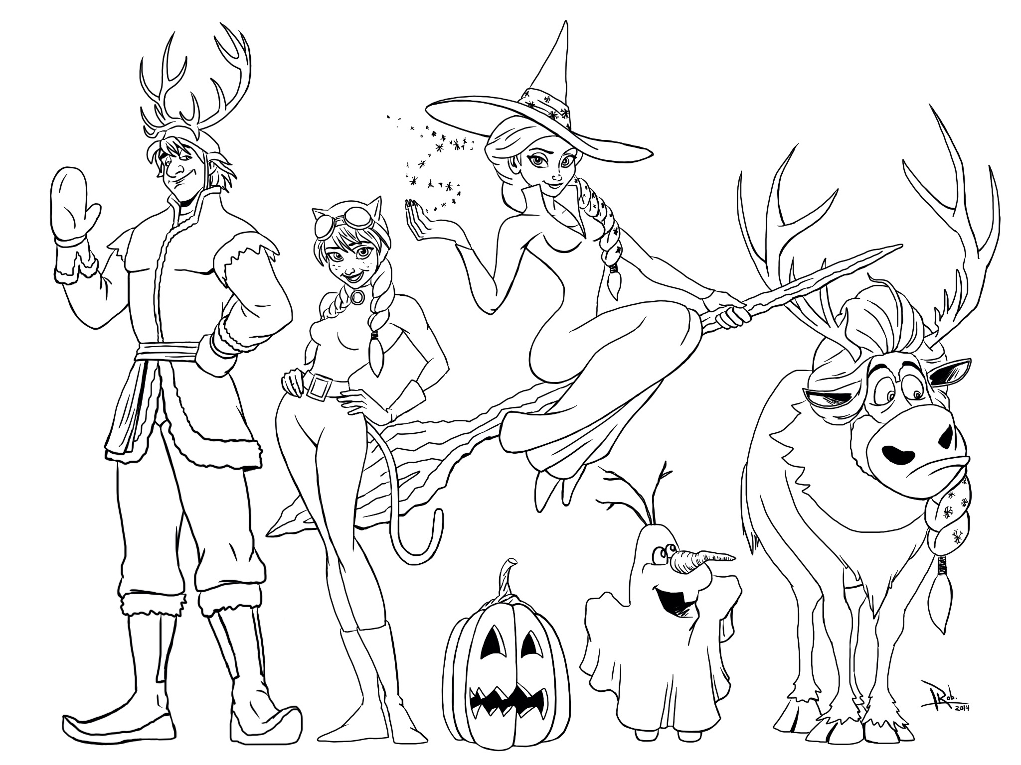 Barbie Halloween Coloring Pages Part 3 Black And White Coloring