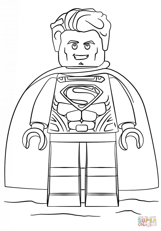 Batman Vs Superman Color Pages Batman Vs Superman Lego Coloring Pages With Lego Superman Coloring