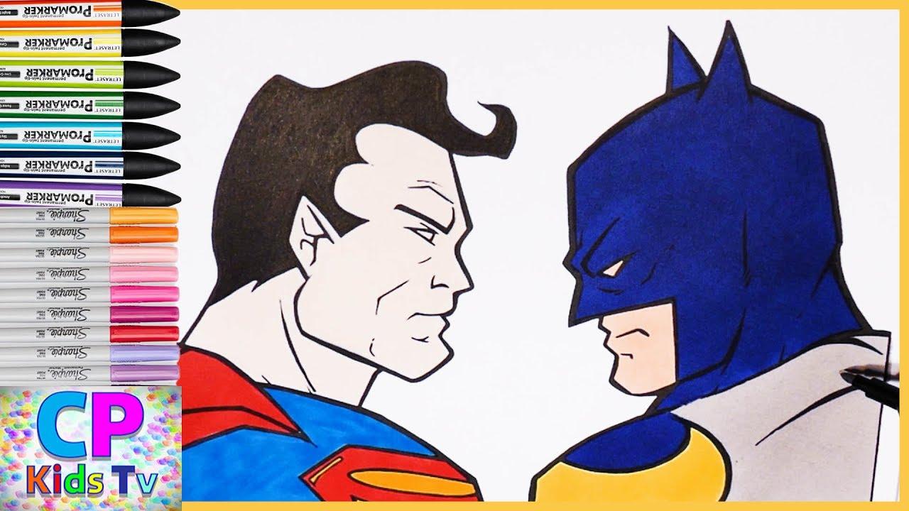 Batman Vs Superman Color Pages Superman Vs Batman Coloring Pages Part 29 Superman Coloring Pages Fun Coloring Pages Kids Tv