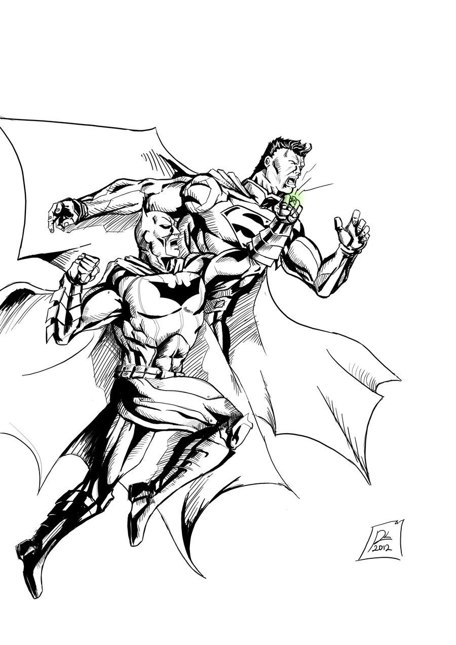 Batman Vs Superman Color Pages Superman Vs Batman Drawing Free Download Best Superman Vs Batman