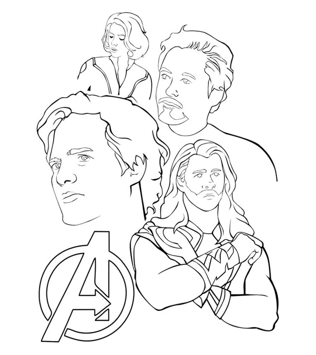 Black Widow Avengers Coloring Pages 30 Wonderful Avengers Coloring Pages For Your Toddler