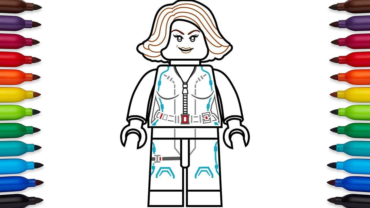 Black Widow Avengers Coloring Pages How To Draw Lego Black Widow Natasha Romanoff From Marvels The Avengers Age Of Ultron