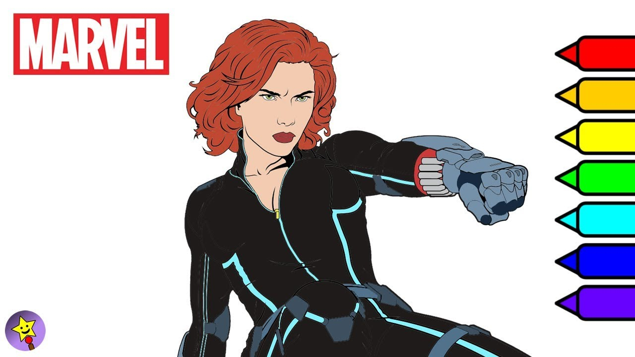 Black Widow Avengers Coloring Pages Marvel Avengers Coloring Book Black Widow Coloring Page