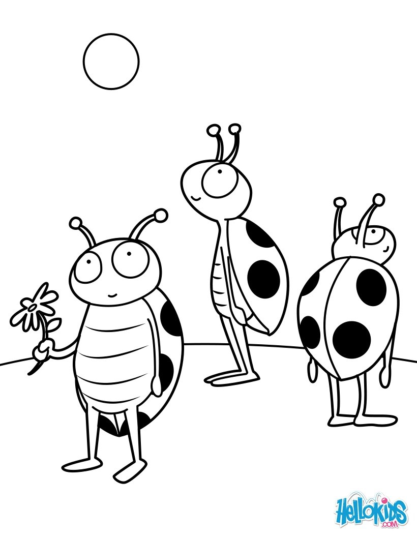 Bug Coloring Pages For Kids Insect Coloring Pages 30 Free Insects And Bugs Coloring Pages