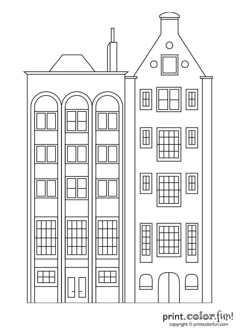 Building Coloring Page Apartment Building Coloring Page Coloring Pages