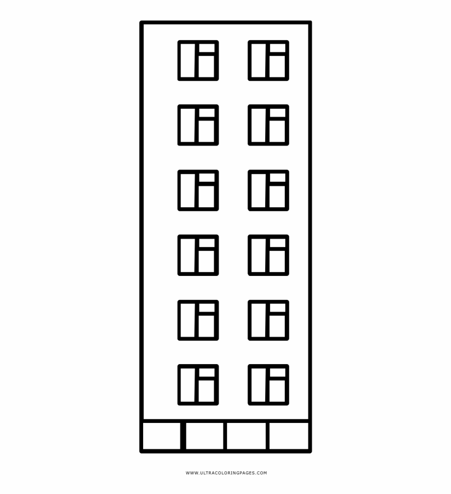 Building Coloring Page Building Coloring Page Colorfulness Transparent Png Download For
