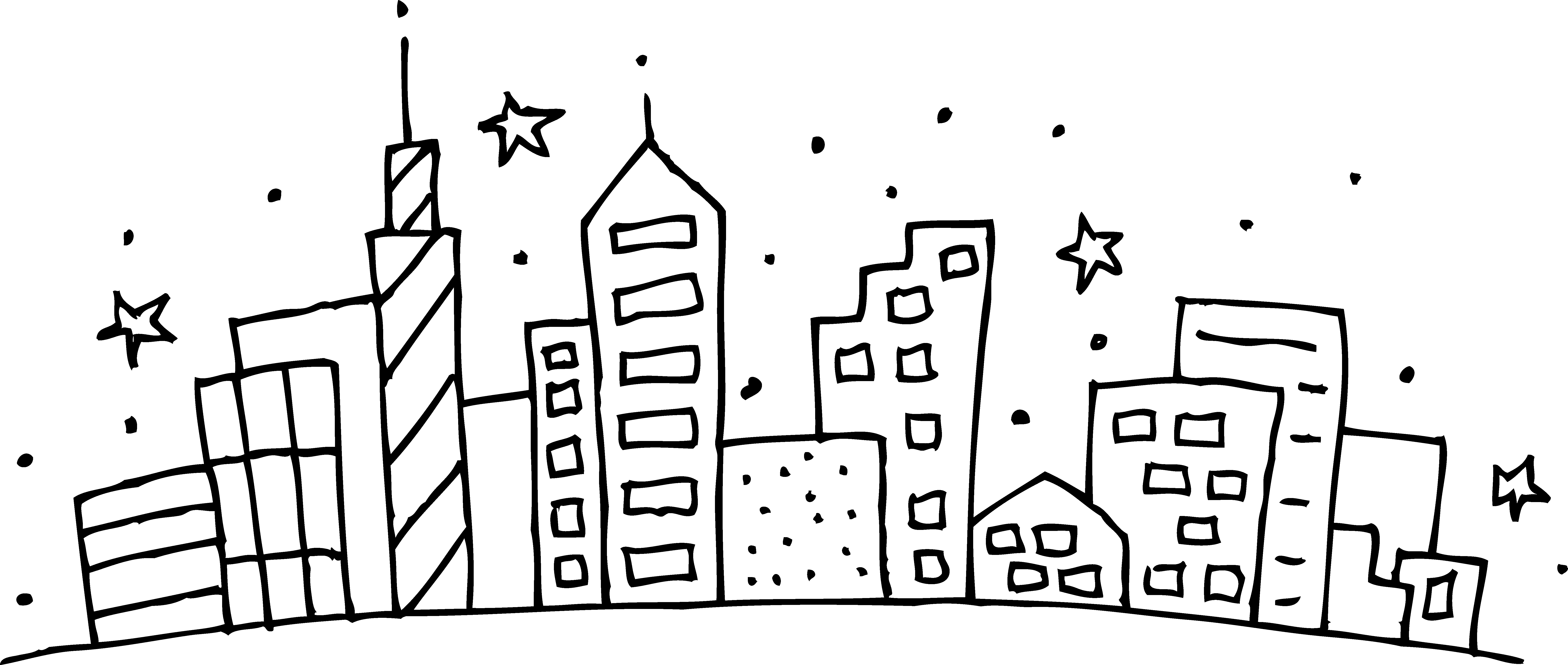 Building Coloring Page Cityscape Coloring Page Free Clip Art