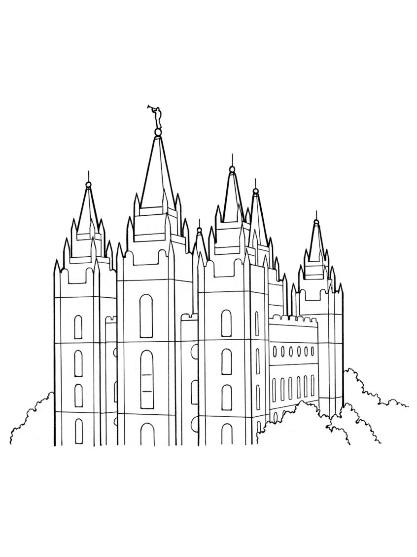 Building Coloring Page Coloring Lds Church Building Coloring Page Home Confidential Salt
