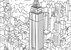 Building Coloring Page Empire State Building Coloring Page Free Printable Coloring Pages