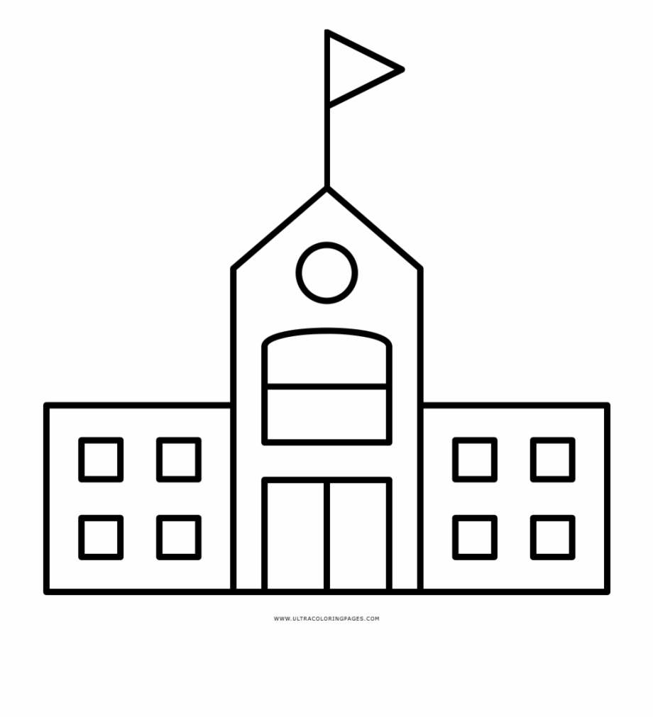 Building Coloring Page School Building Coloring Page Line Art Free Png Images Clipart