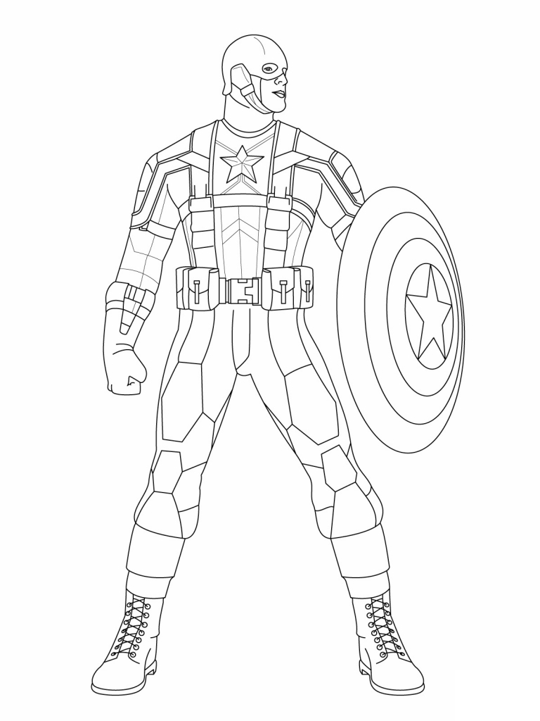 Captain America Winter Soldier Coloring Pages Captain America Coloring Pages To Print Captain America Coloring