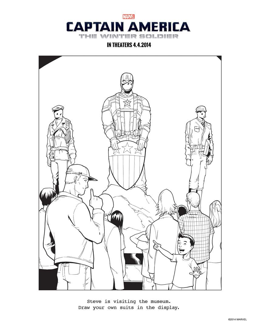 Captain America Winter Soldier Coloring Pages Captain America The Winter Soldier Coloring Pages More Crunchy