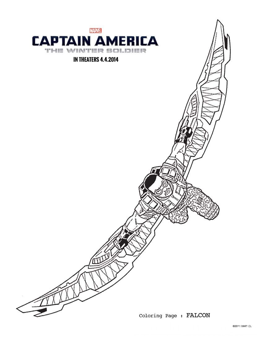 Captain America Winter Soldier Coloring Pages Captain America The Winter Soldier Printable Activity Sheets