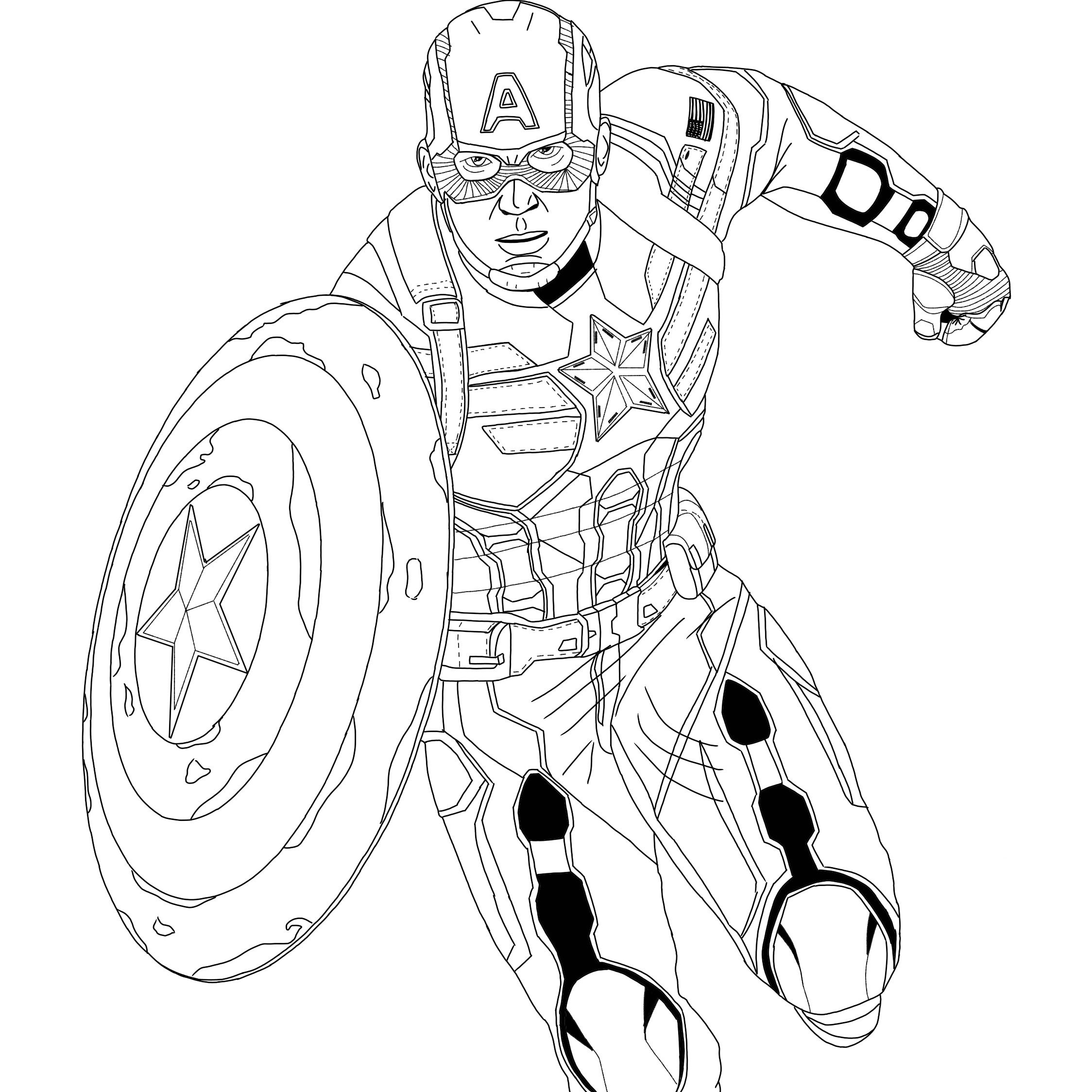 Captain America Winter Soldier Coloring Pages Captain America Winter Soldier Suit Superhero Coloring Pages