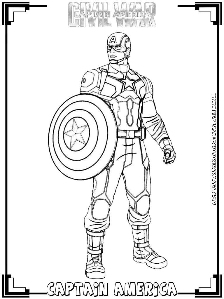 Captain America Winter Soldier Coloring Pages Coloring Free Captain America Coloring Pages For Kids Animals