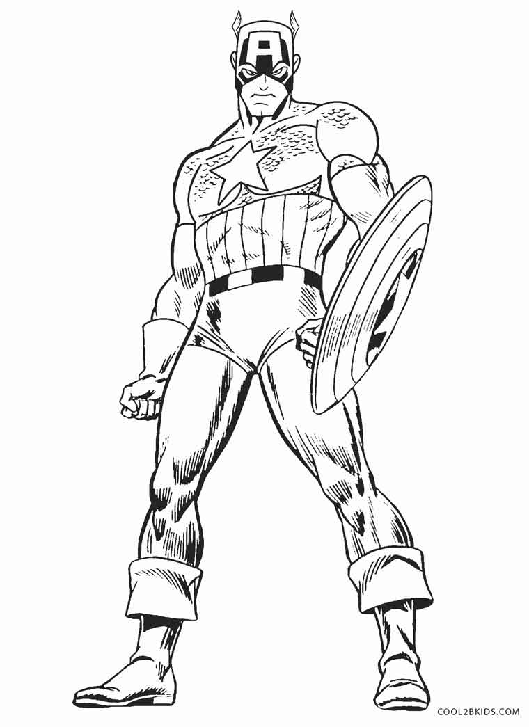 Captain America Winter Soldier Coloring Pages Free Printable Captain America Coloring Pages For Kids Cool2bkids