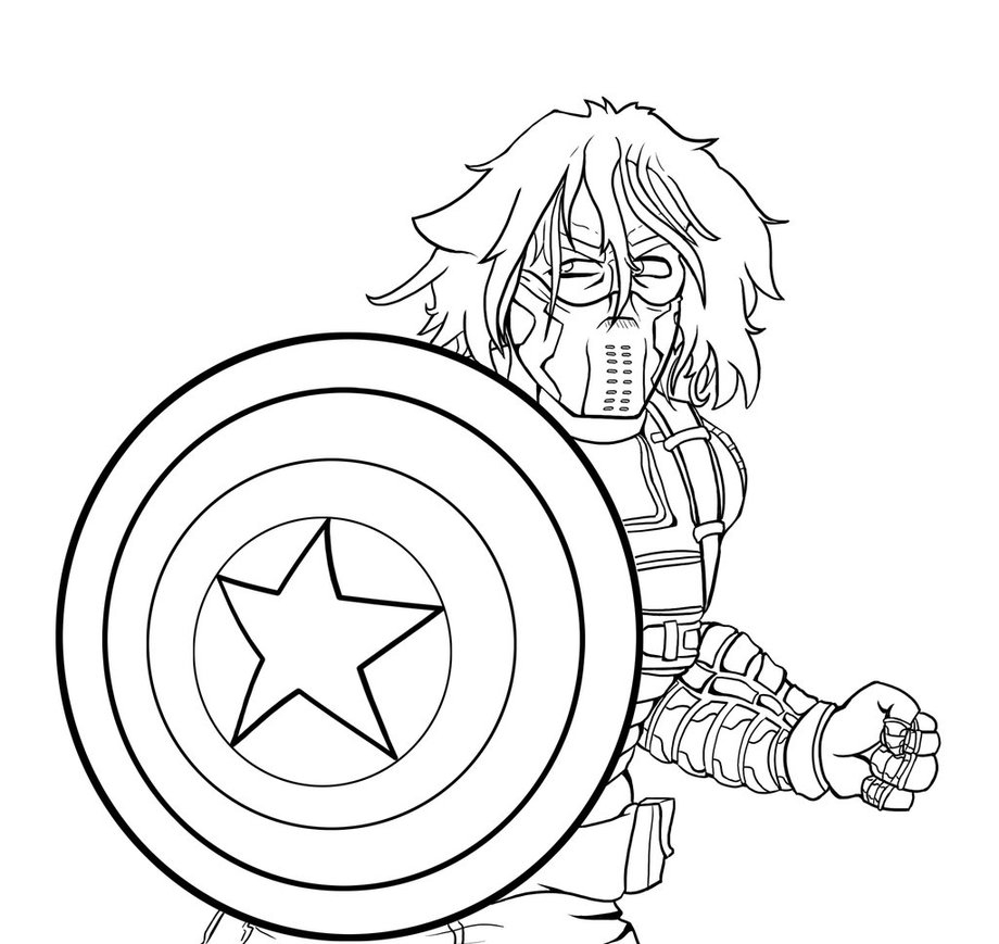 Captain America Winter Soldier Coloring Pages The Winter Soldier Coloring Pages