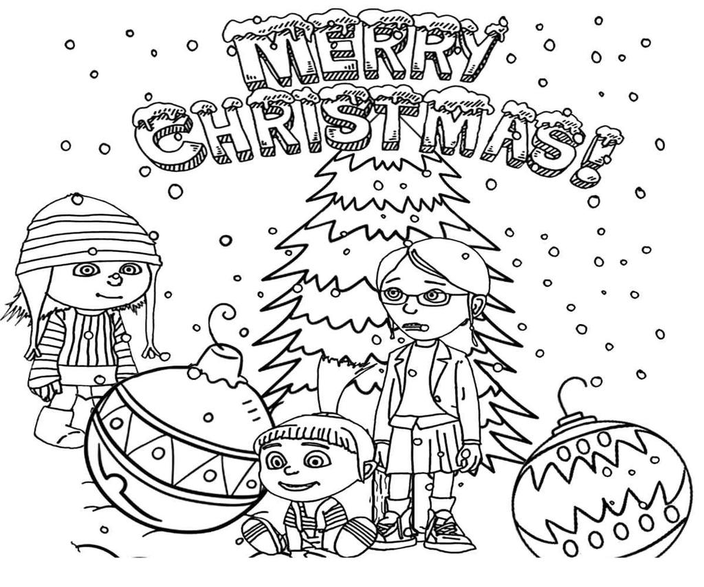 Christmas Color Pages For Kids Children Christmas Coloring Pages Minions N For Kids Free