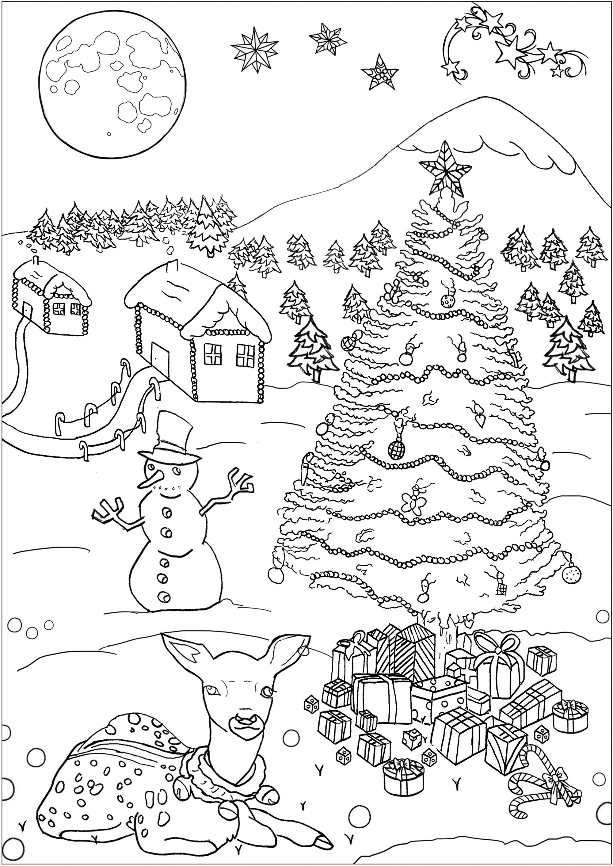 Christmas Color Pages For Kids Christmas Free To Color For Children Christmas Kids Coloring Pages