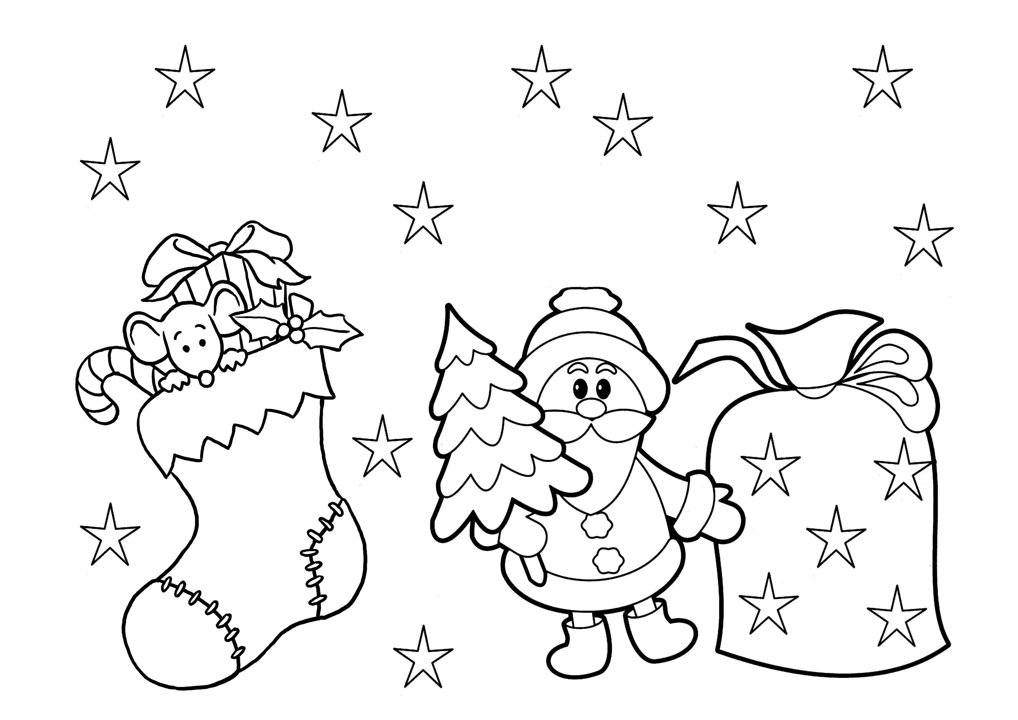Christmas Color Pages For Kids Coloring Christmas Coloring Pages For Preschoolers Free Printable