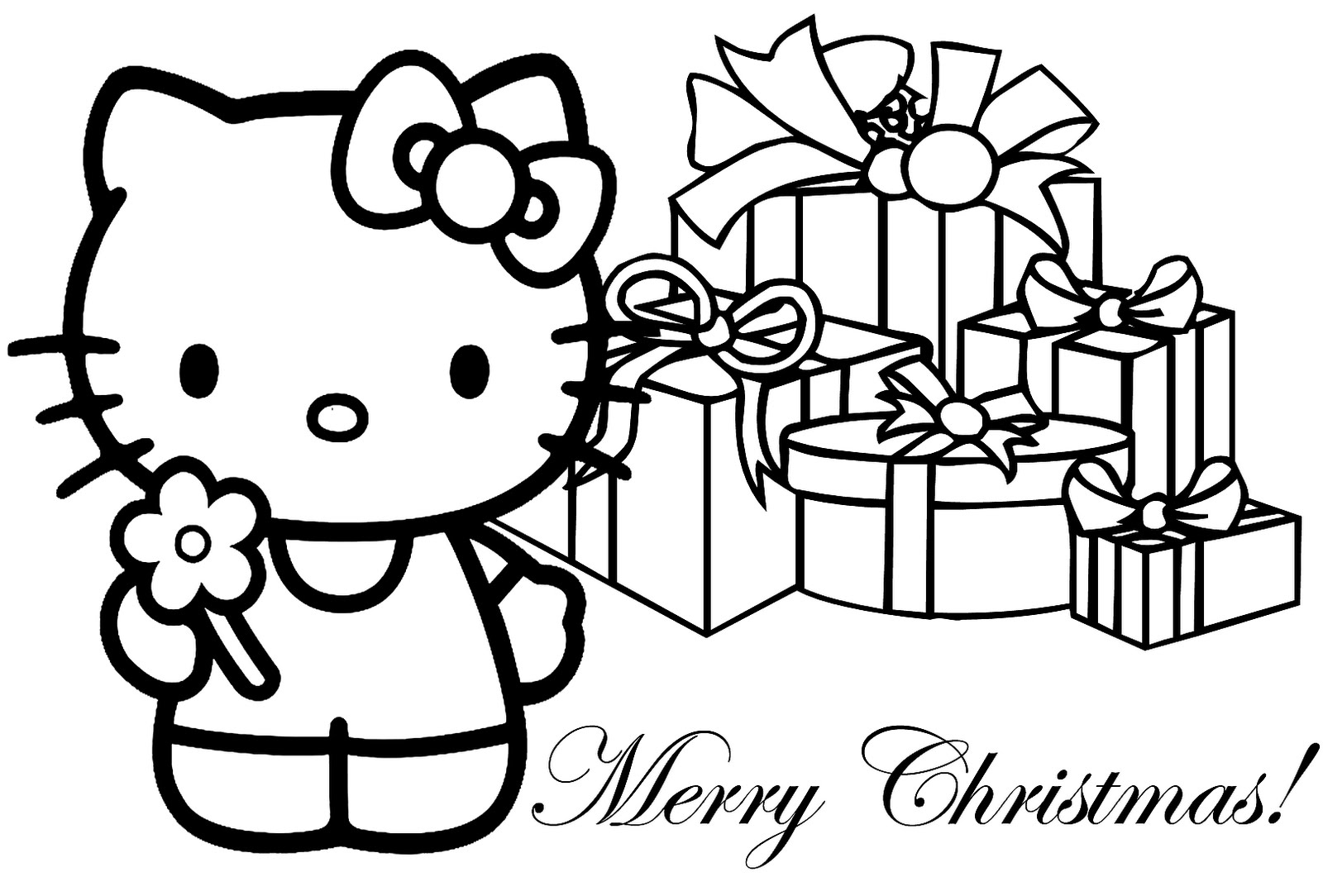 Christmas Color Pages For Kids Free Printable Merry Christmas Coloring Pages