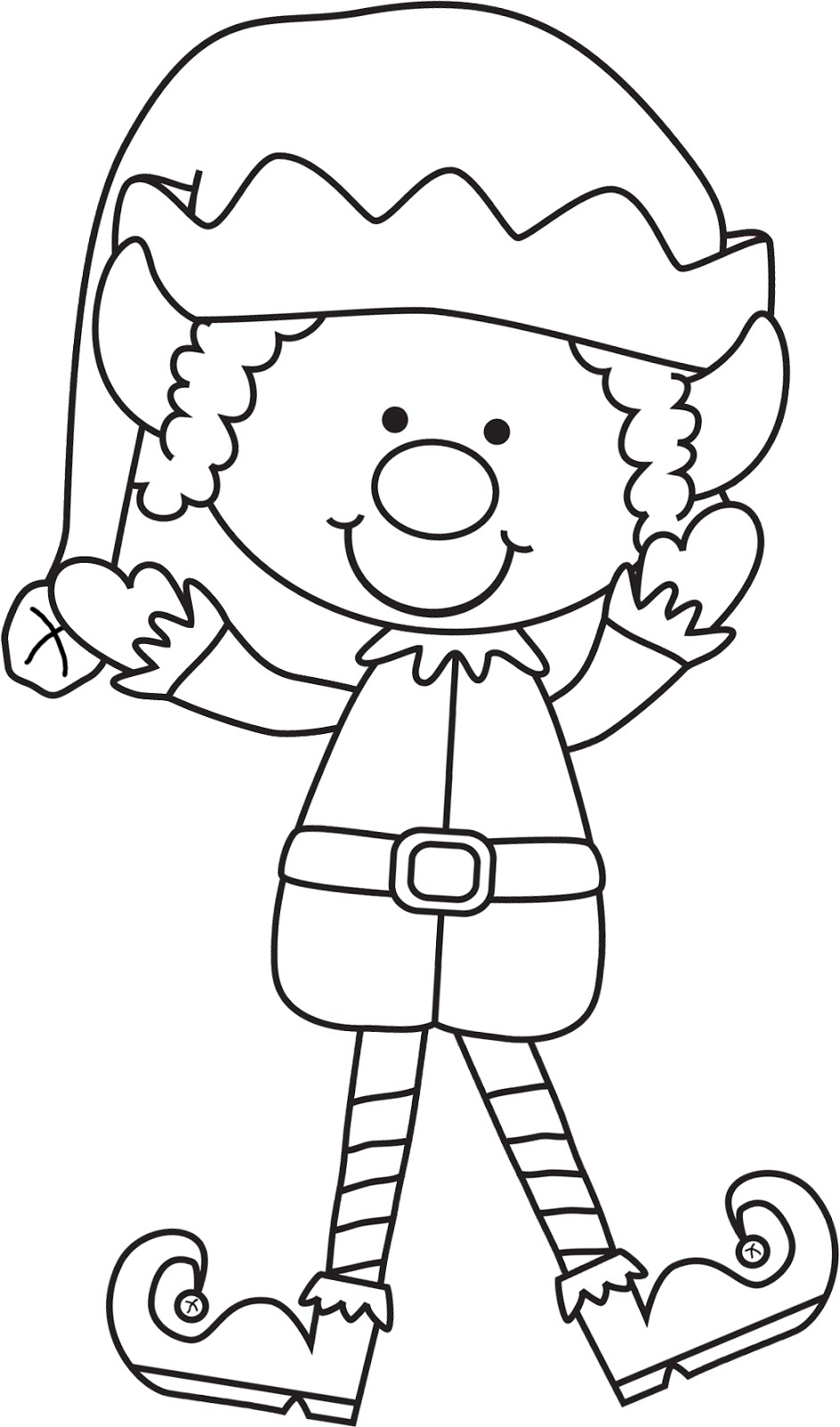 Christmas Elf Coloring Pages Christmas Elf Coloring Pages Coloringrocks