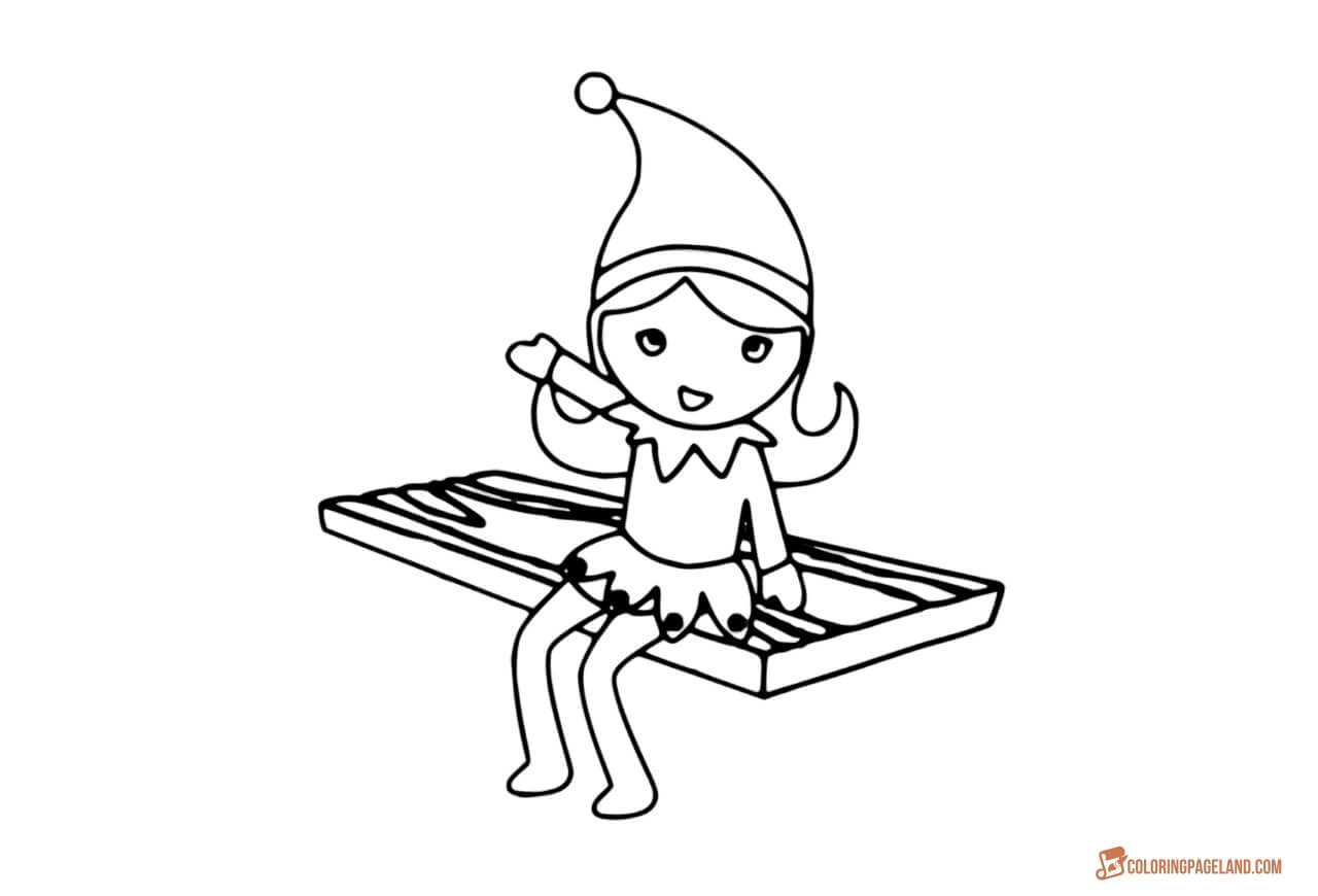 Christmas Elf Coloring Pages Coloring Book Ideas Girl Elf Coloring Pages Stylish Incredibleee