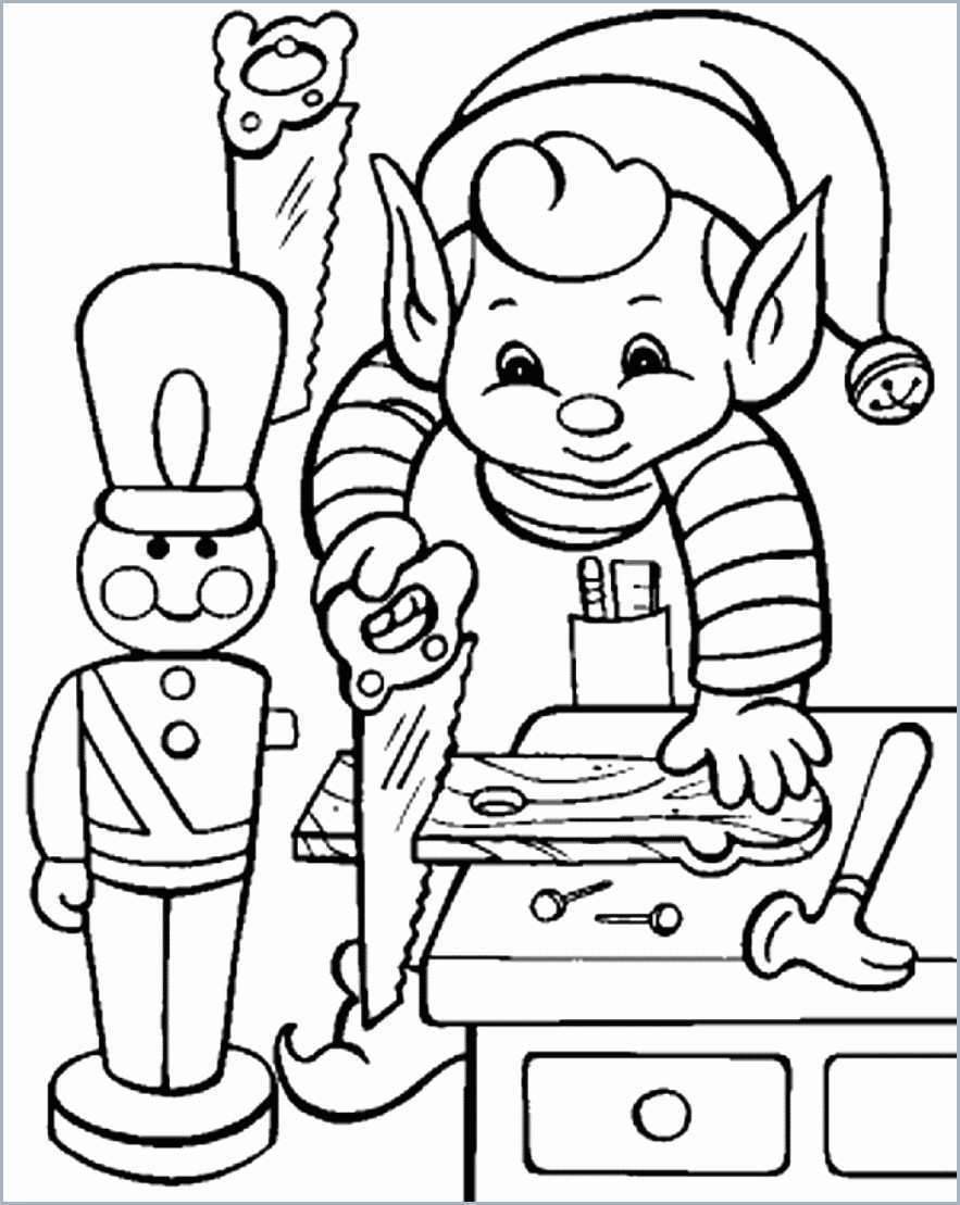 Christmas Elf Coloring Pages Coloring Ideas Christmas Coloring Pages For Freee Unique Elf