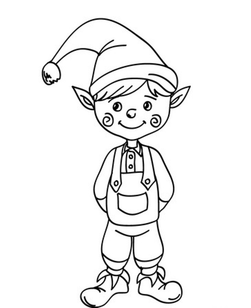Christmas Elf Coloring Pages Coloring Ideas Elf Coloring Pages Printable Ideas For Kids Elf