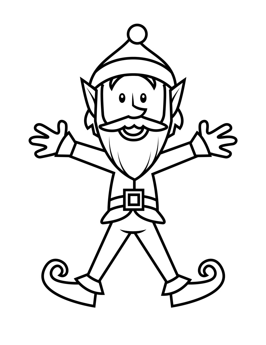 Christmas Elf Coloring Pages Elf Coloring Pages Free Download Best Elf Coloring Pages On