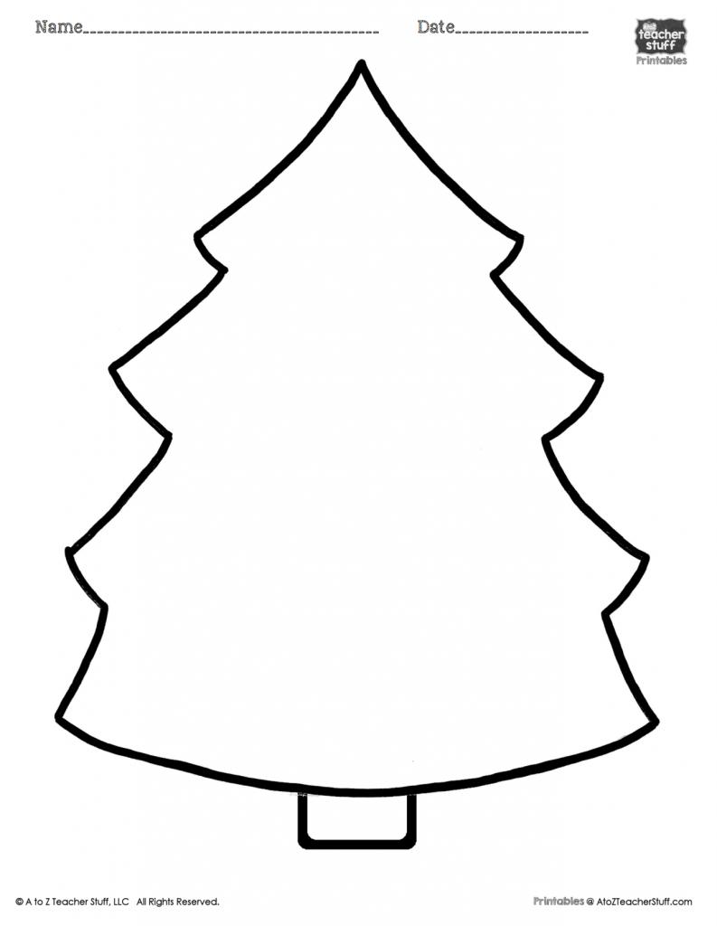 Christmas Lights Color Pages Christmas Tree Printable Page A To Z Teacher Stuff Printable Pages