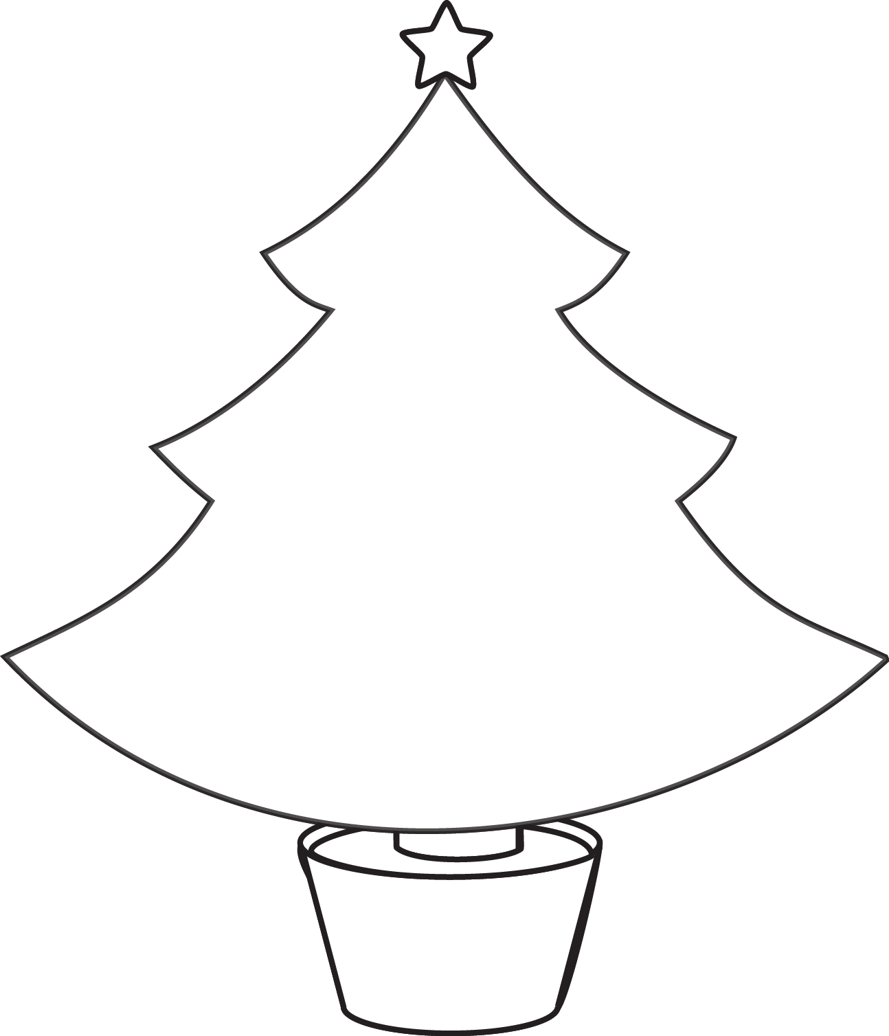 Christmas Lights Color Pages Free Outline Of Christmas Tree Download Free Clip Art Free Clip