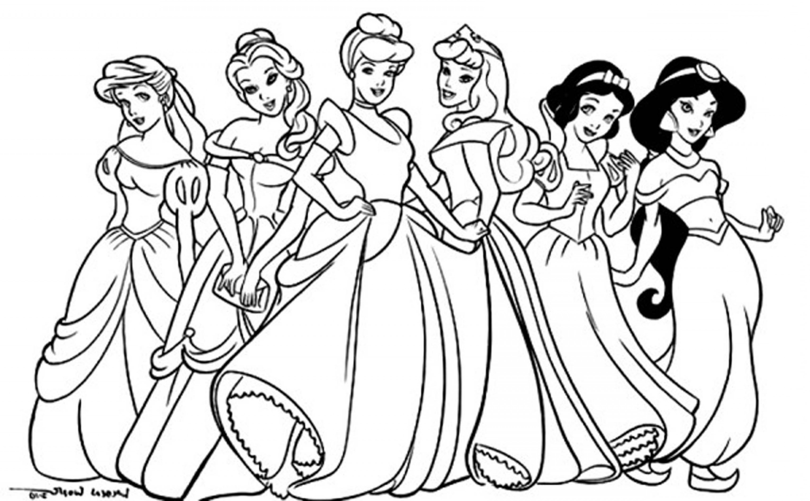 Coloring Disney Pages Coloring Pages Free Princess Activity Pages Printable Coloring To