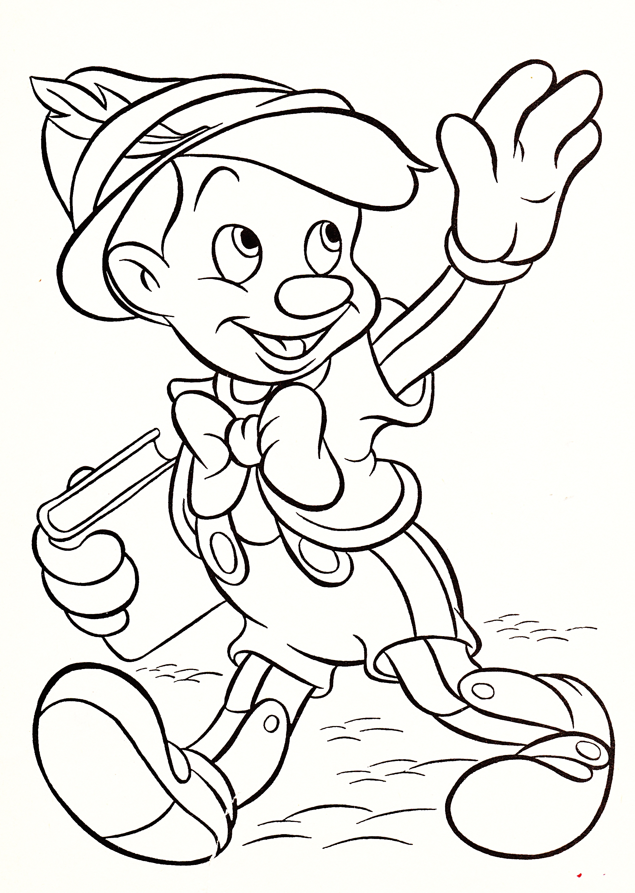 Coloring Disney Pages Walt Coloring Pages Pinocchio