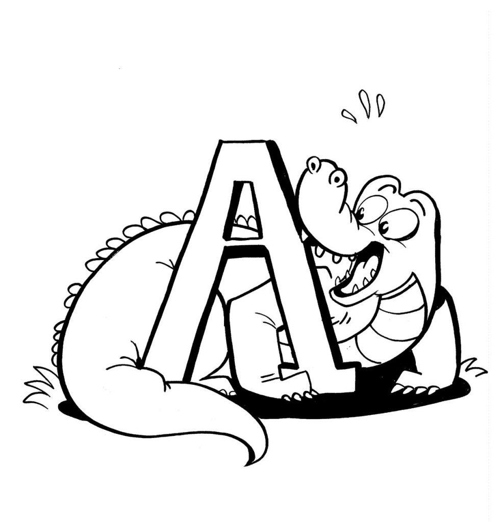 Coloring Page Alligator Alligator Color Pages