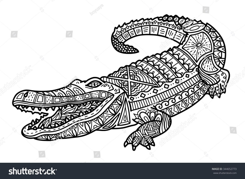 Coloring Page Alligator American Crocodile Coloring Page Printable Coloring Page For Kids