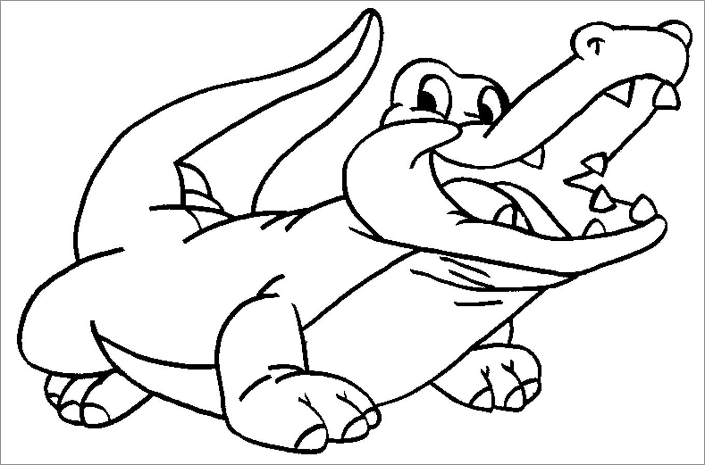 Coloring Page Alligator Ba Alligator Coloring Page Coloringbay