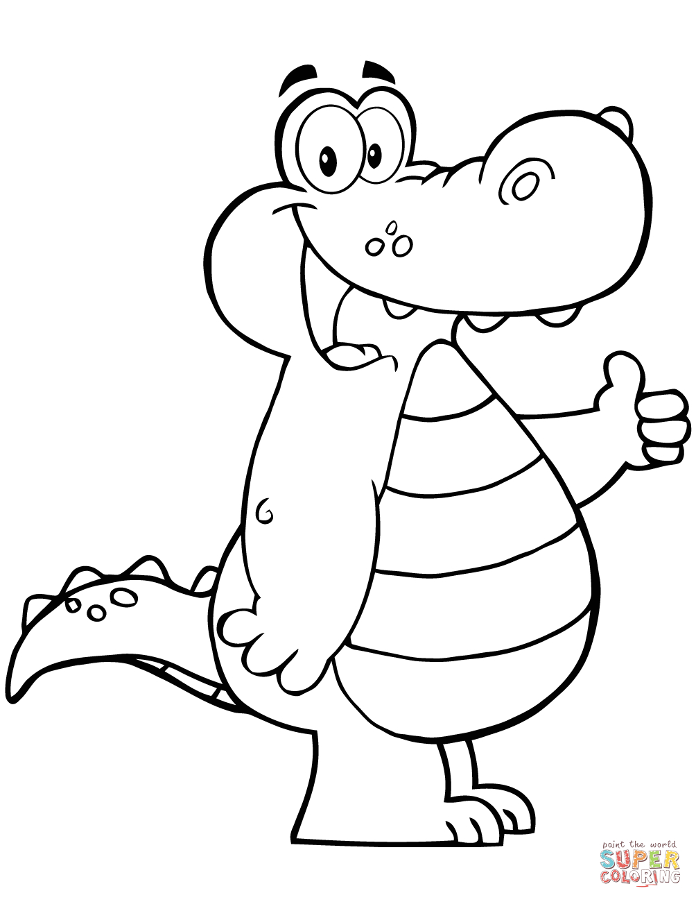 Coloring Page Alligator Cartoon Alligator Coloring Page Free Printable Coloring Pages