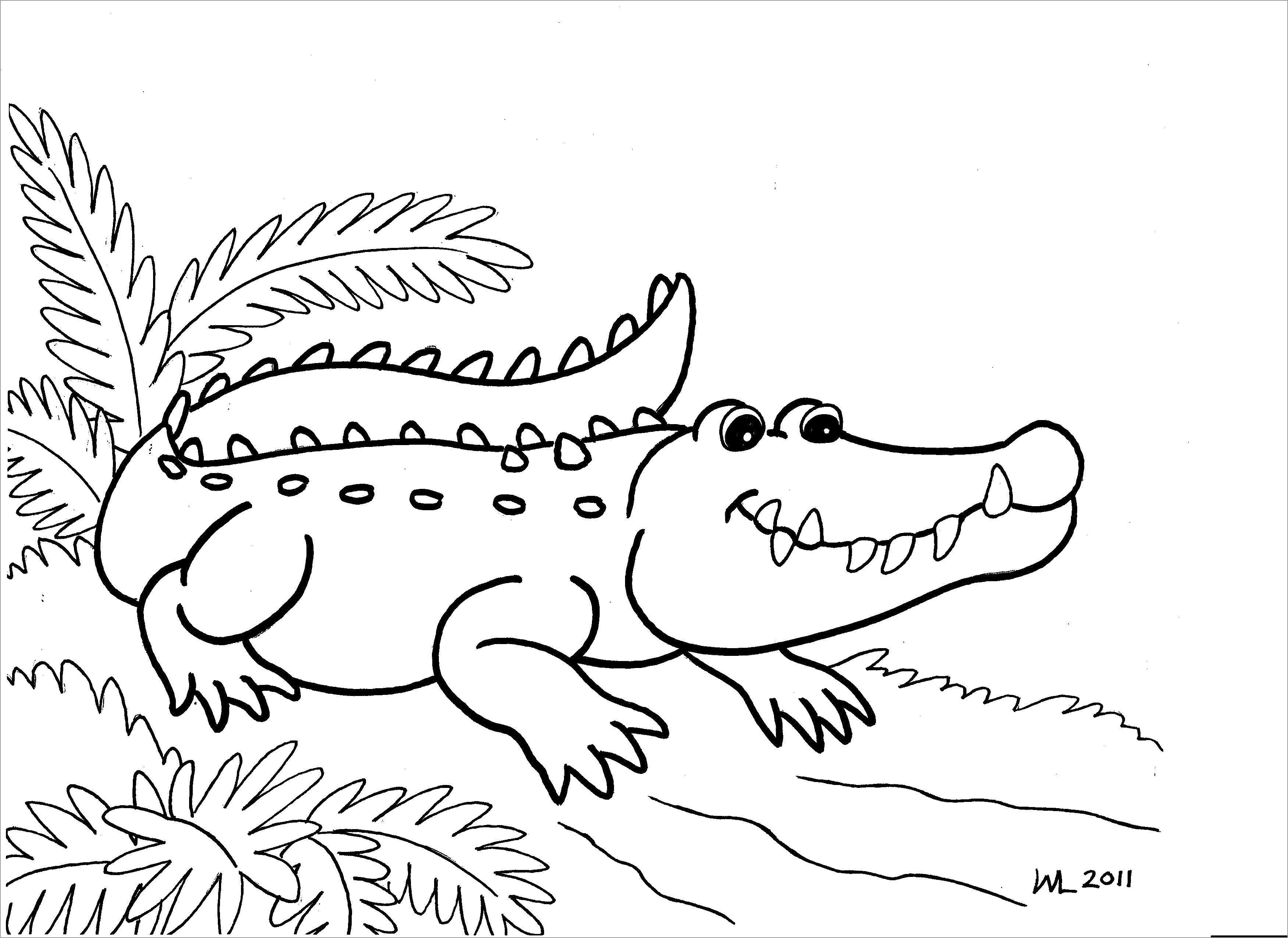Coloring Page Alligator Elegant Cute Alligator Coloring Pages Jvzooreview