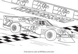Coloring Page Of A Race Car Collection Stock Car Coloring Pages Pictures Sabadaphnecottage