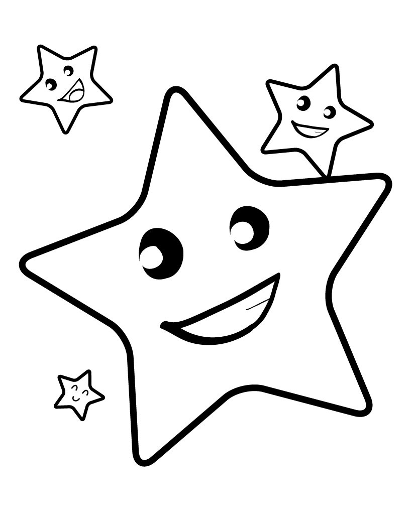 Coloring Page Of A Star Coloring Pages Coloring Pages Moon And Stars Page Image Ideas Free