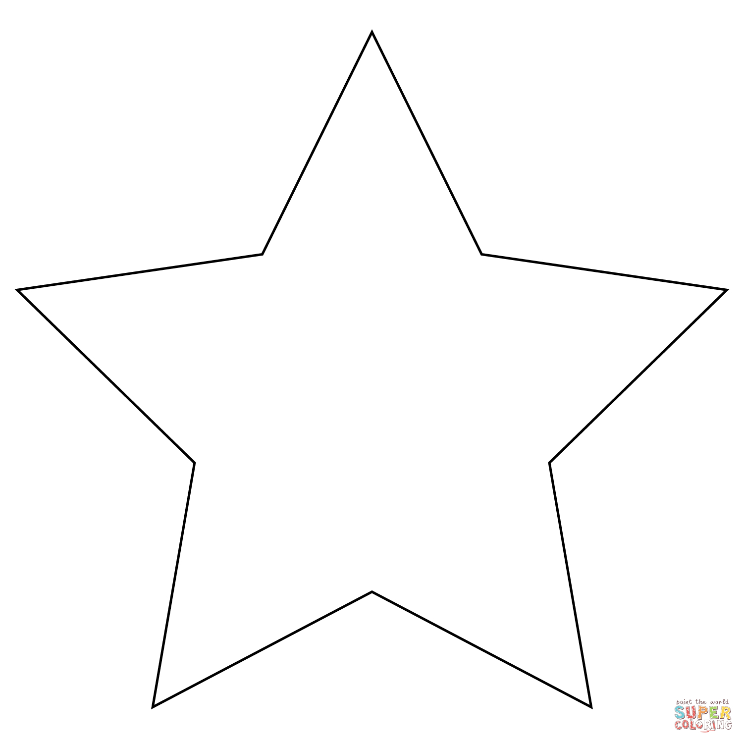 Coloring Page Of A Star Five Pointed Star Coloring Page Free Printable Coloring Pages