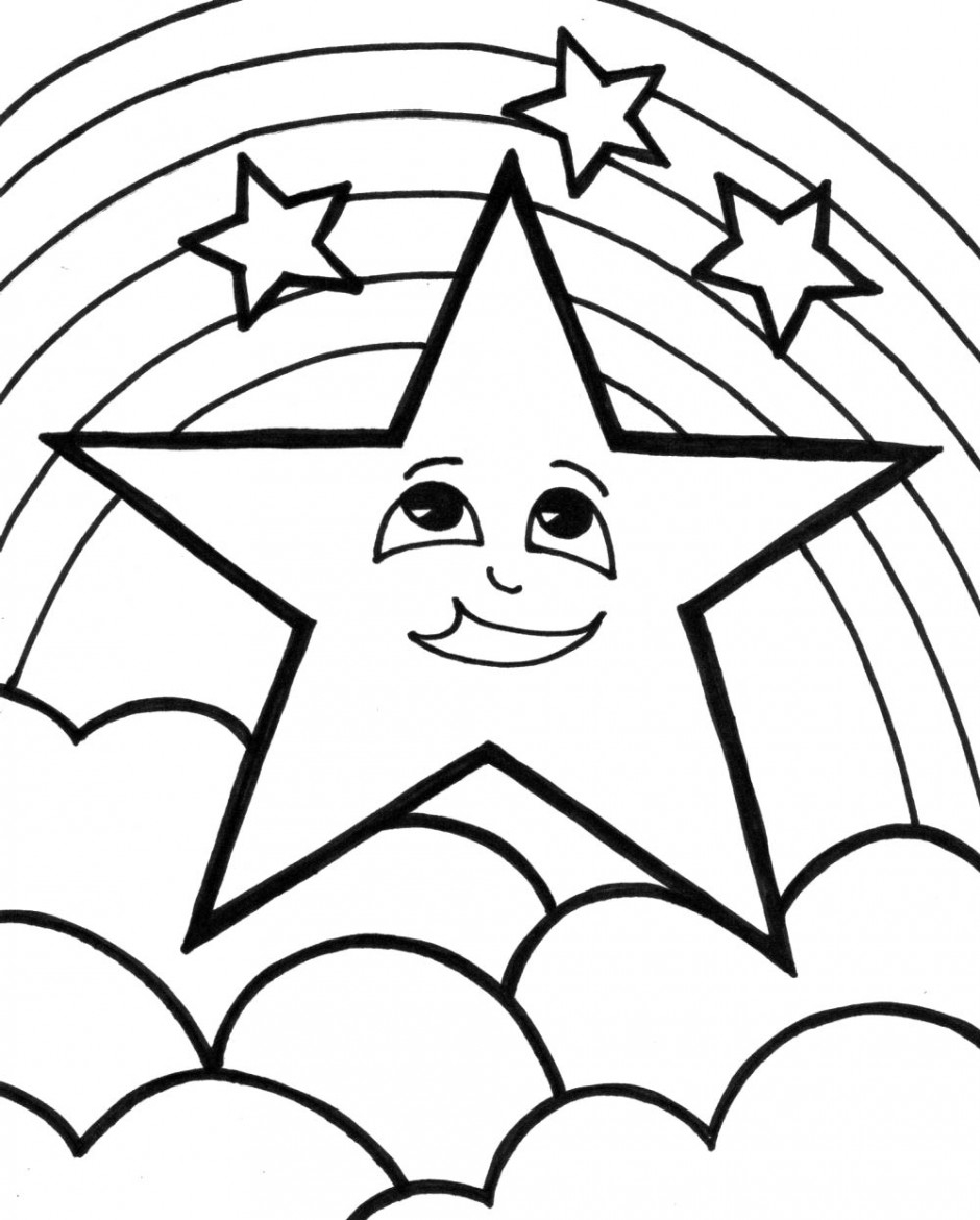 Coloring Page Of A Star Free Shooting Star Coloring Pages Download Free Clip Art Free Clip